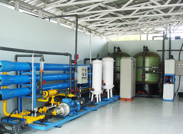 Seawater RO Line, with energy recover device, output 10CBM per hour