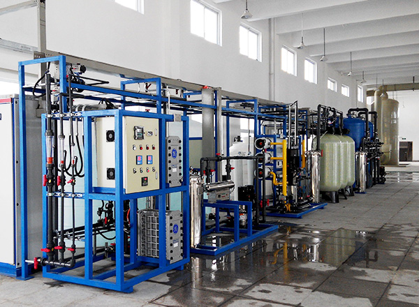 Ultra pure water production, output water resistivity valve can reach to 15~18MΩ